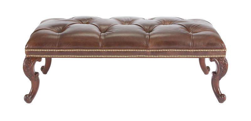 Landon Leather Ottoman