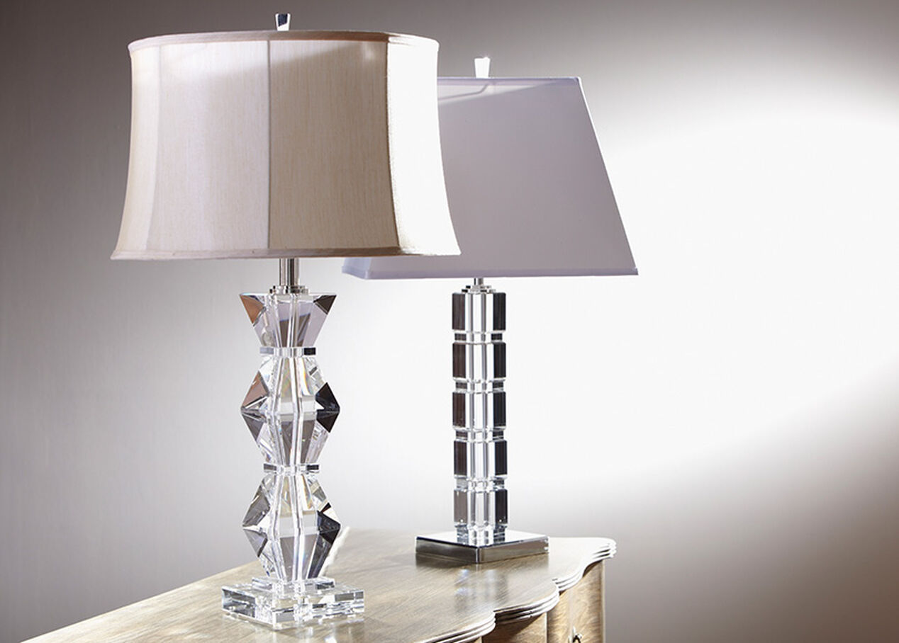 Miraculous Crystal Blocks Table Lamp Table Lamps Ethan Allen Home Interior And Landscaping Mentranervesignezvosmurscom