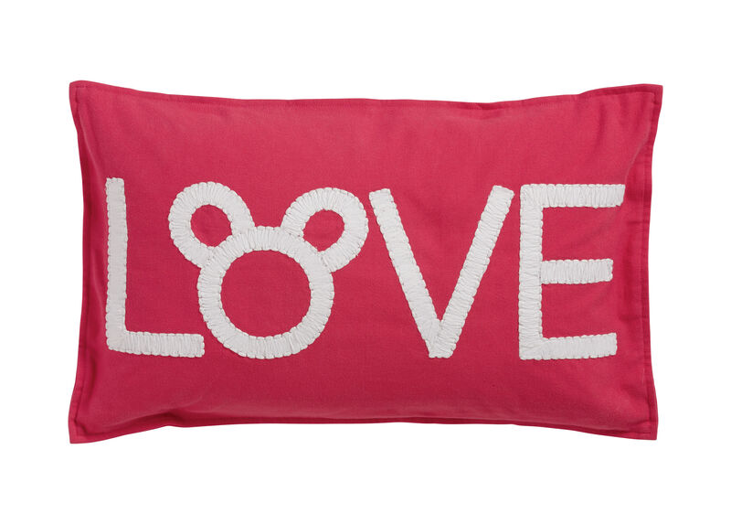 Mickey Mouse Love Pillow, Minnie Pink