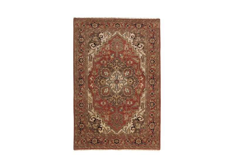 Heriz Rug, Rust/Rust ,  , large_gray