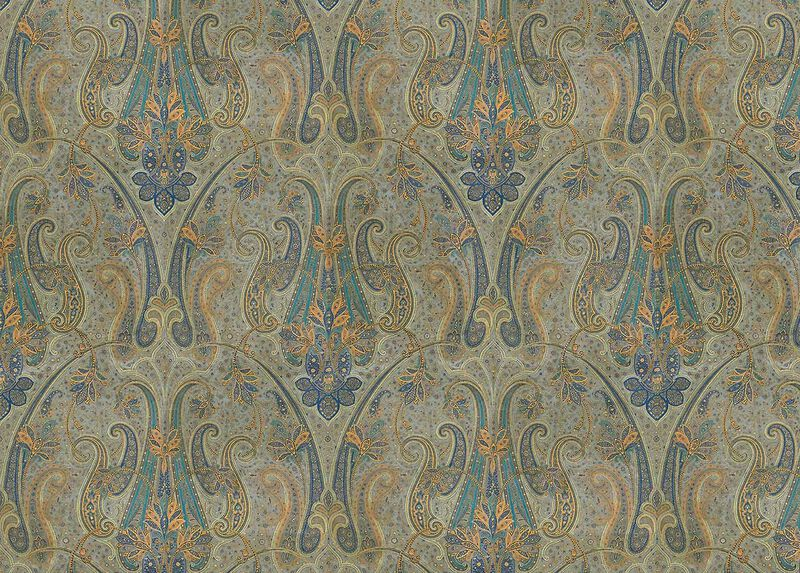 Rasone Blue Fabric by the Yard