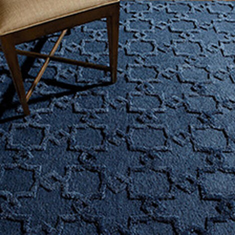 Lattice Soumak Rug, Navy ,  , hover_image