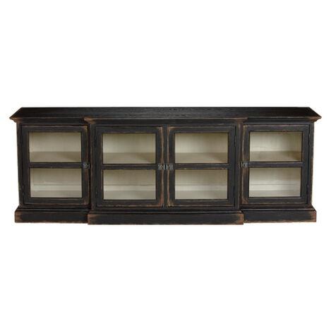 white media console furniture. Farragut Media Cabinet, Rustic Black With White Interior , Large Console Furniture