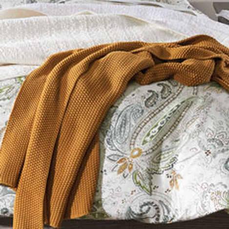 Moss Stitch Knit Throw Product Tile Hover Image mossstitchthrow