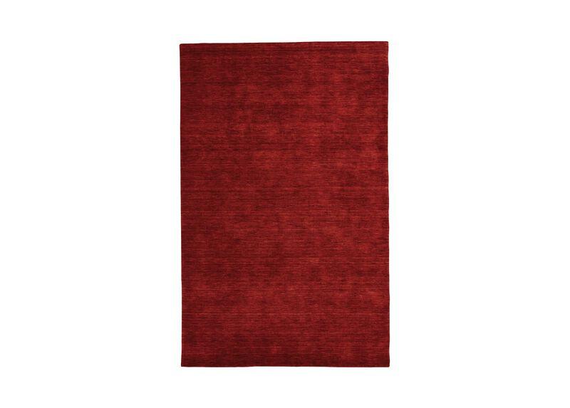 Loomed Wool Rug, Garnet Red