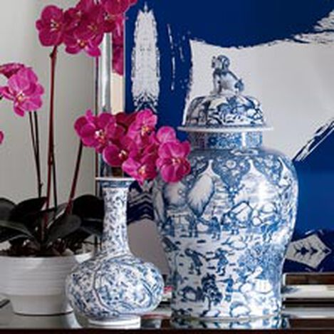 Blue and White Foo Dog Jar ,  , hover_image