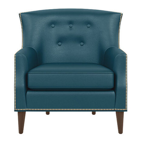 Juilliard Barrel-Back Leather Wing Chair Product Tile Image 722516