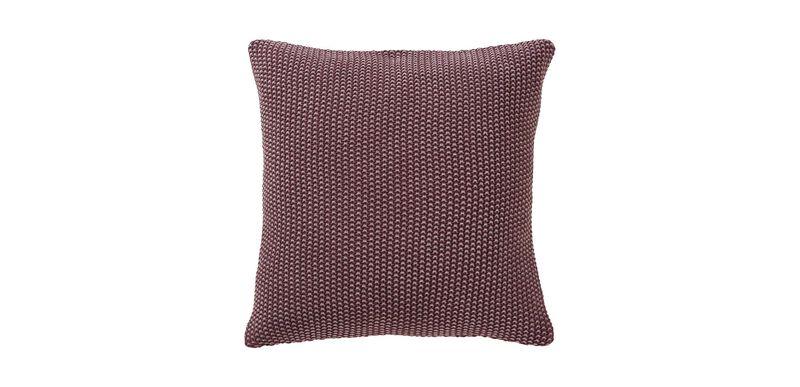 Moss Stitch Pillow, Beet