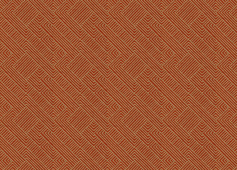 Hadi Tangerine Fabric by the Yard