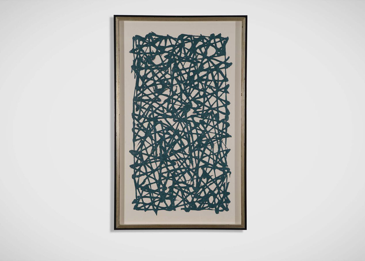 Turquoise Paper Art Abstract