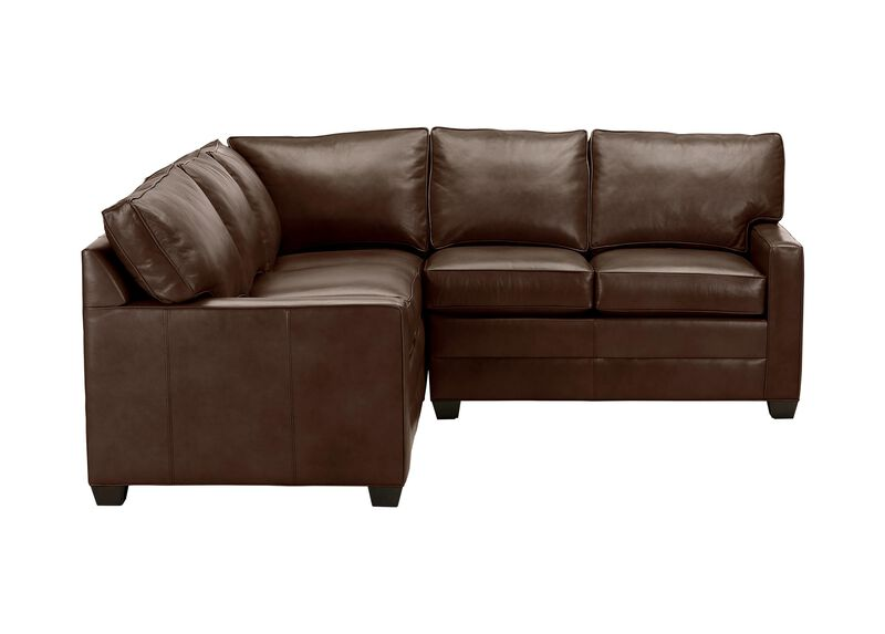 Bennett Track-Arm Leather Three Piece Sectional, Quick Ship ,  , large_gray