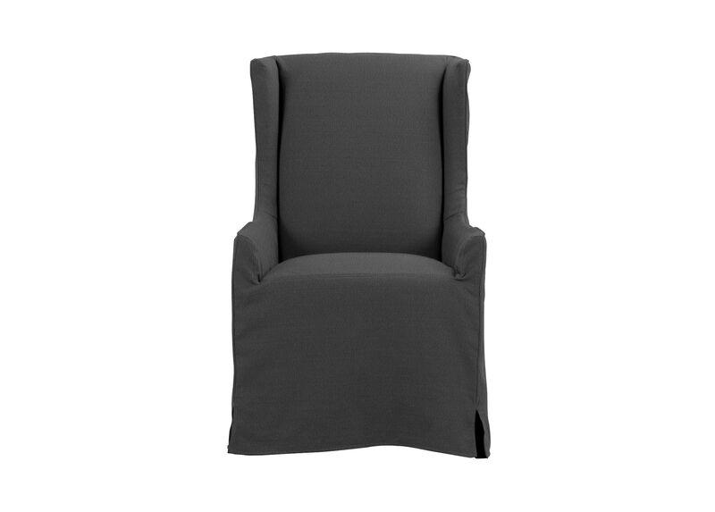 Larkin Slipcovered Host Chair, Portia Graphite at Ethan Allen in Ormond Beach, FL | Tuggl