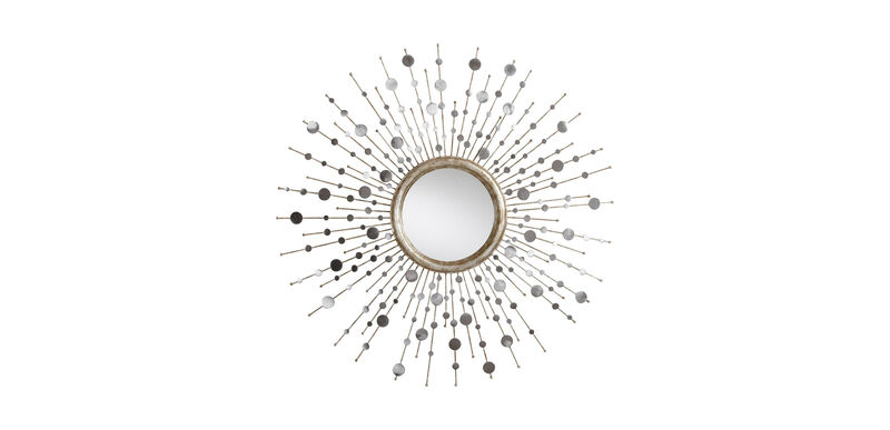 Silver Toned Soleil Mirror