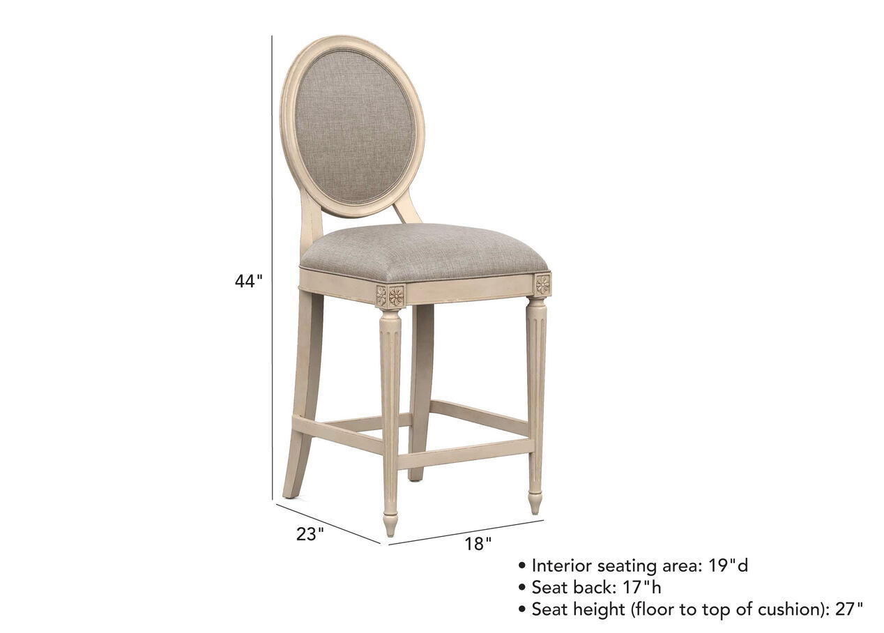 Marcella Oval Back Counter Stool Bar Amp Counter Stools