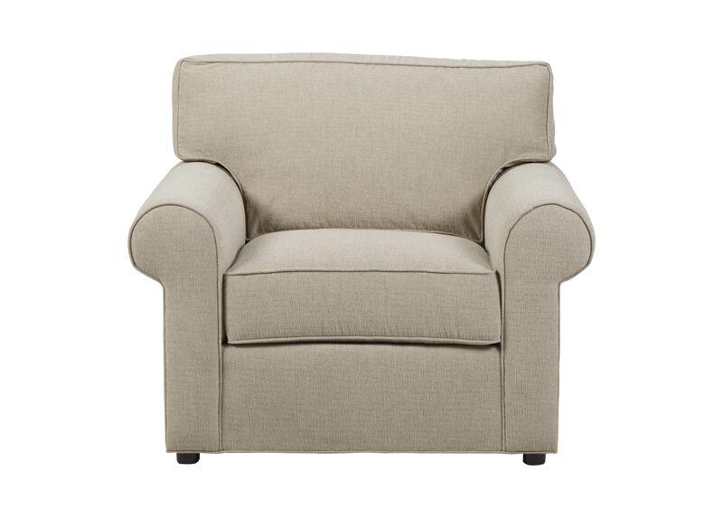 Retreat Roll-Arm Chair, Quick Ship , Palmer Pearl (Q3039), chenille , large_gray