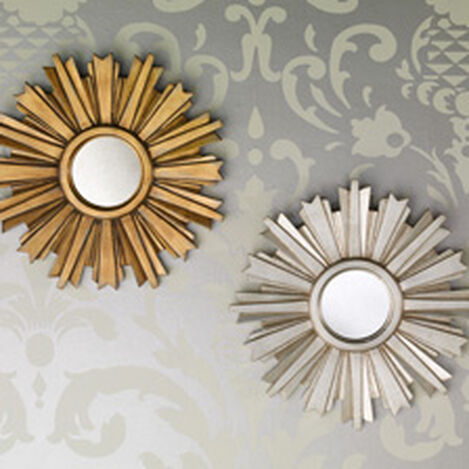 Mini Gold Starburst Mirror ,  , hover_image