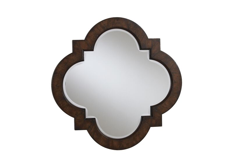 Dark Quatrefoil Mirror