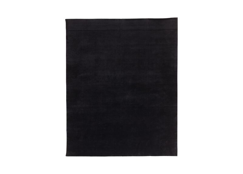 Loomed Wool Rug, Black