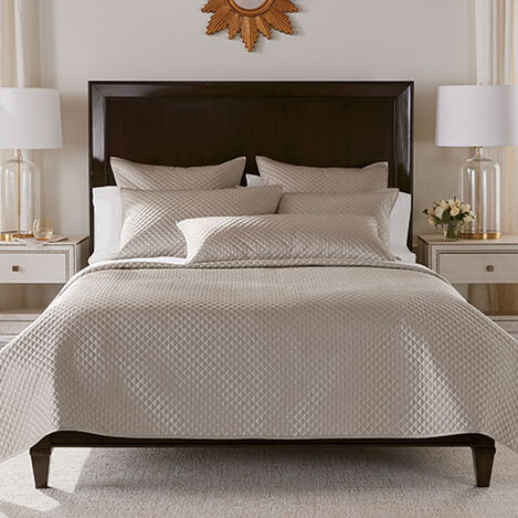 Salena Quilted Coverlet and Shams, Taupe Product Tile Image SalenaQuiltTaupe