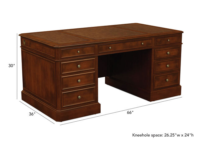 Wondrous Buckley Leather Top Pedestal Desk Desks Ethan Allen Frankydiablos Diy Chair Ideas Frankydiabloscom