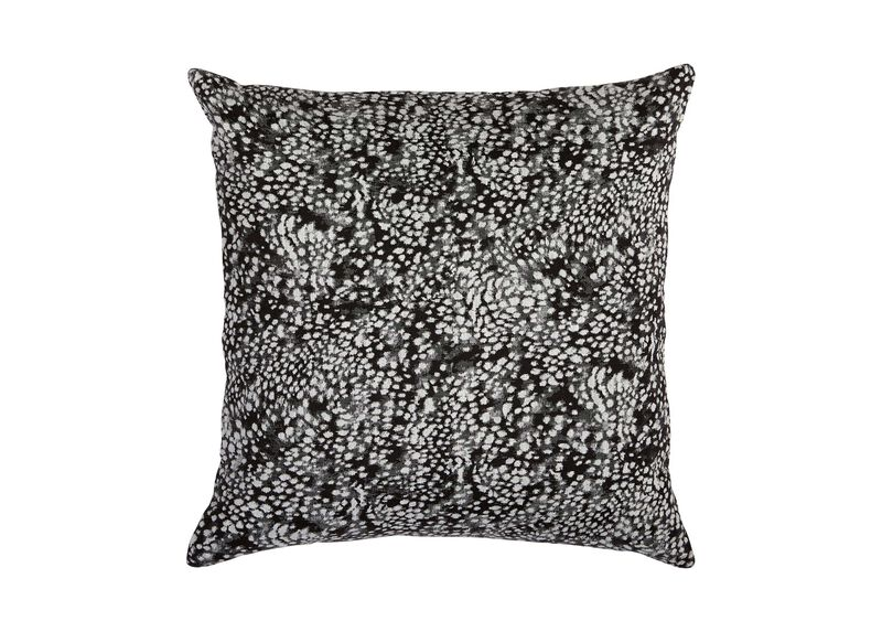 Leopard Pillow, Black/Ivory