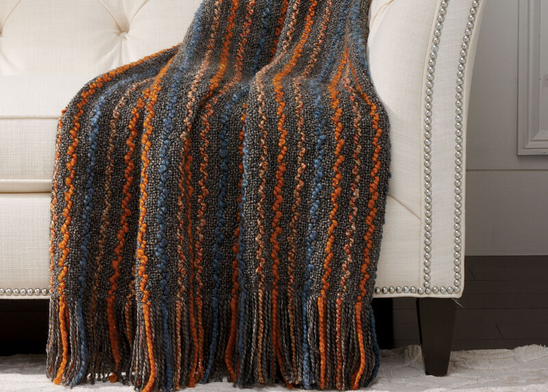 Squiggle Knit Throw, Charcoal
