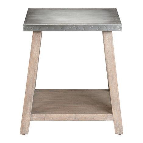 Bruckner Metal-Top End Table ,  , large