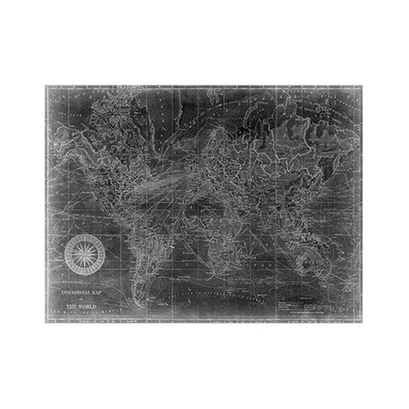 World Map I Black
