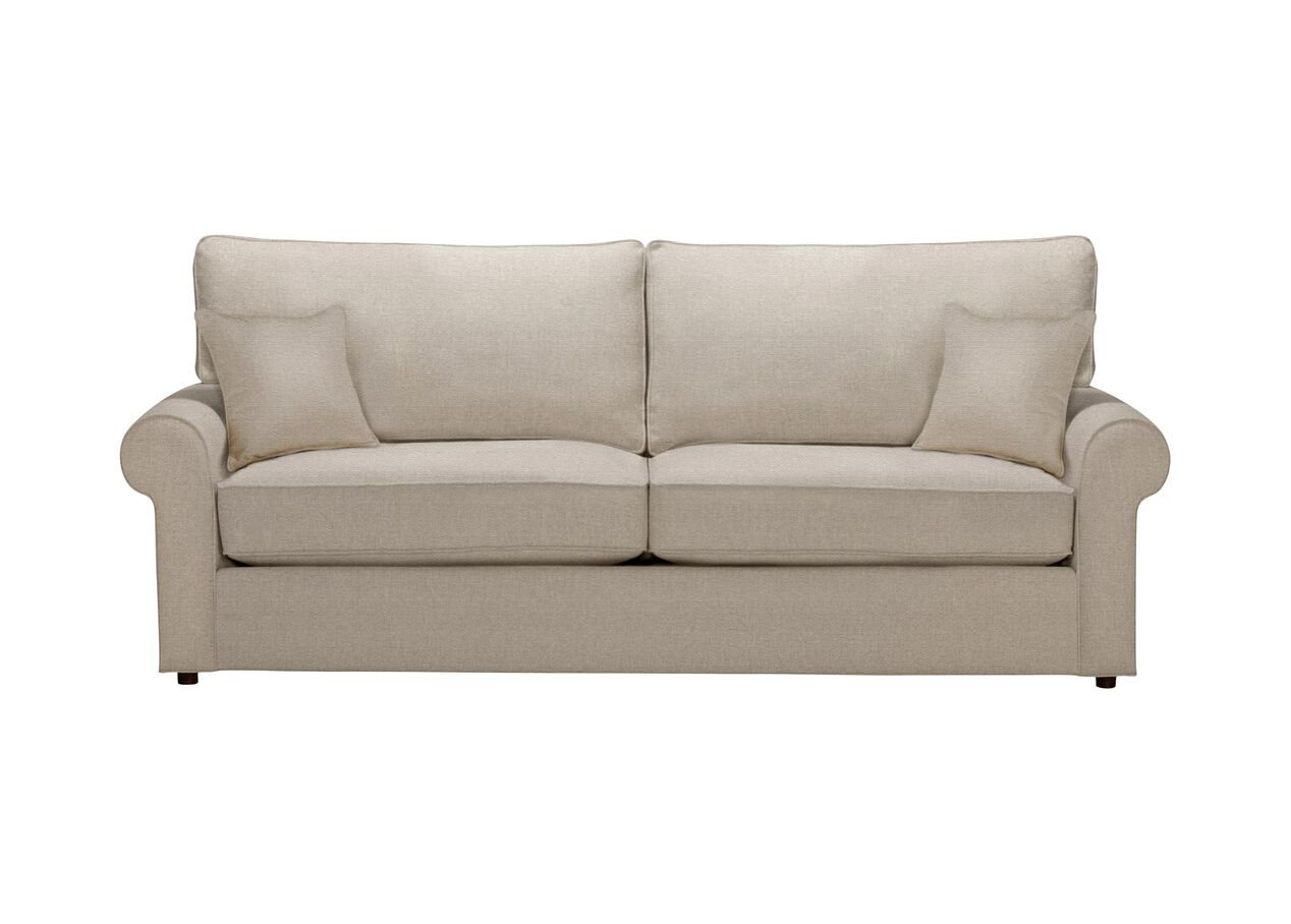 Retreat roll arm sofa quick ship sofas loveseats for Retreat sectional sofa ethan allen