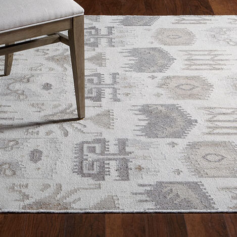 Tribal Mosaic Rug, Ivory/Multi Product Tile Hover Image 041213L