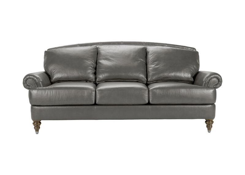 Hyde Leather Sofa, Quick Ship ,  , large_gray