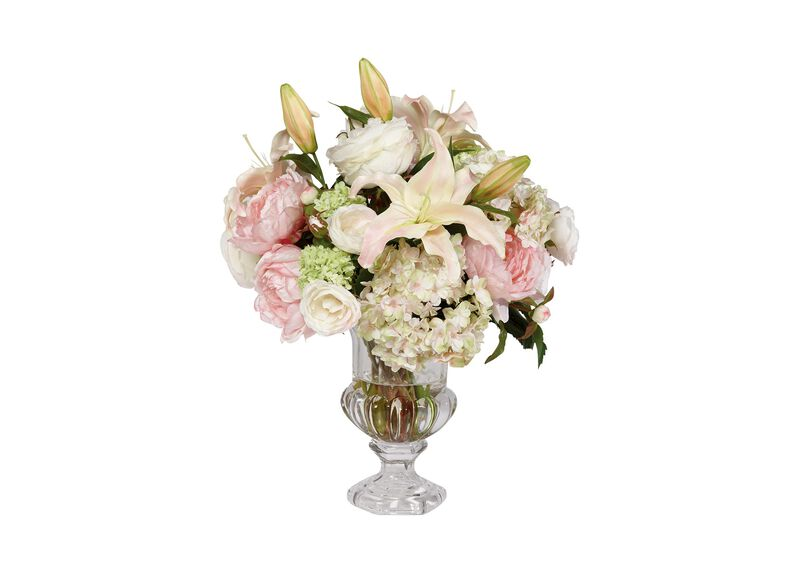 Spring Bouquet in Glass Urn