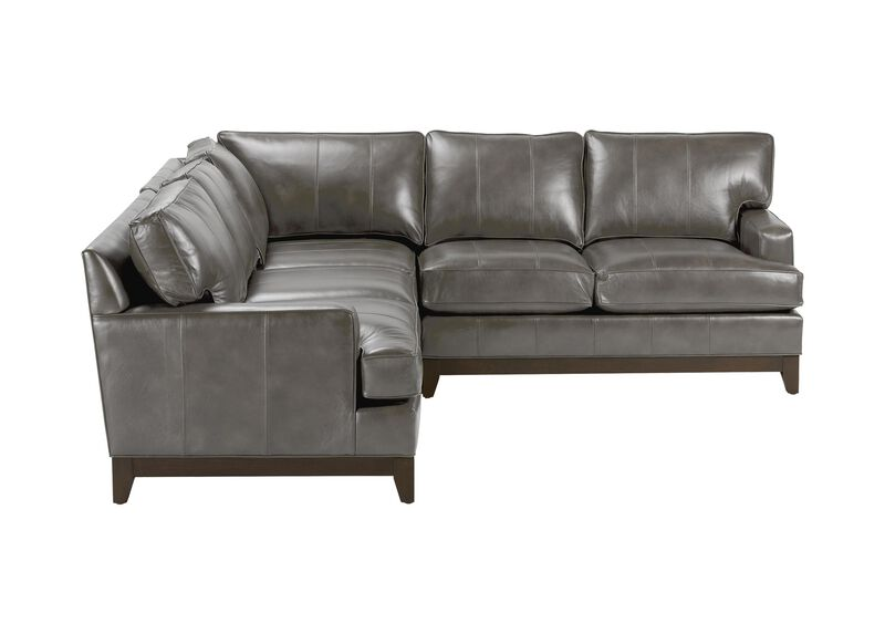 Arcata Three-Piece Leather Sectional, Quick Ship