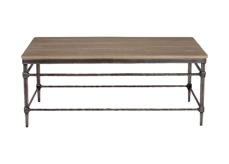 Vida Wood-Top Coffee Table