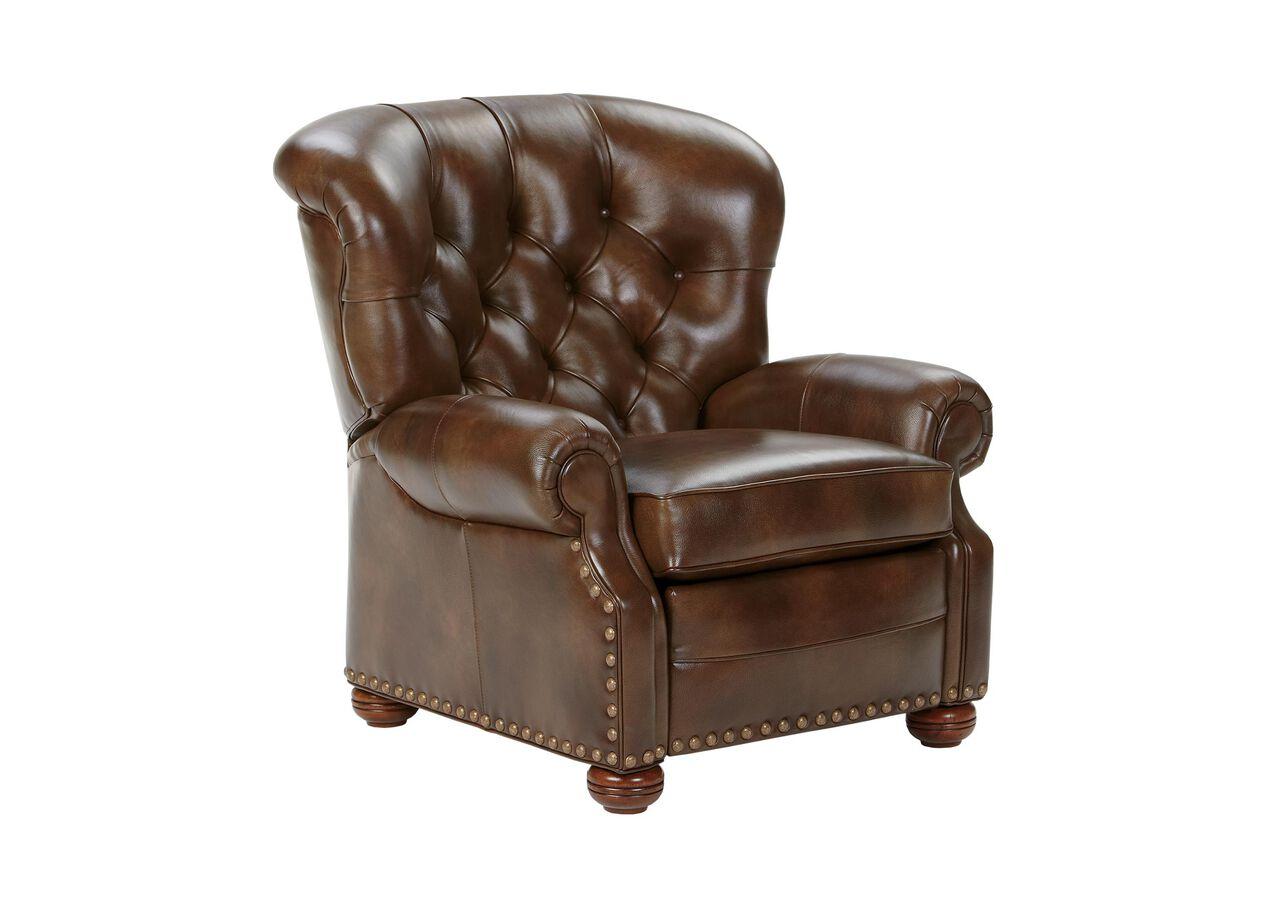 Cromwell Leather Recliner Omni Tobacco Custom Quick