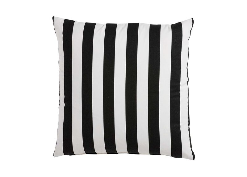 Black and White Bold Stripe Pillow ,  , large_gray