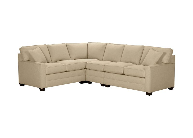 Bennett Track-Arm Four Piece Sectional, Quick Ship , Hailey Oatmeal (Q1033), solid texture , large_gray
