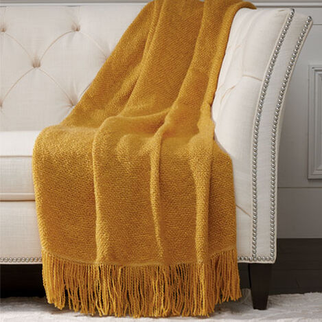 Serene Throw, Goldenrod ,  , large