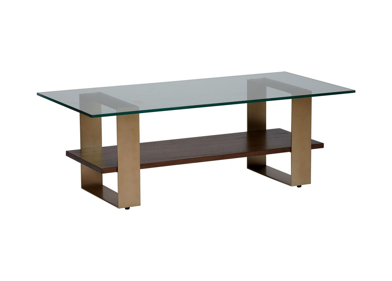 Rosemoor Glass Top Rectangular Coffee Table Ethan Allen