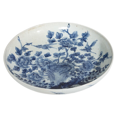 Yuan Floral Low Bowl ,  , large