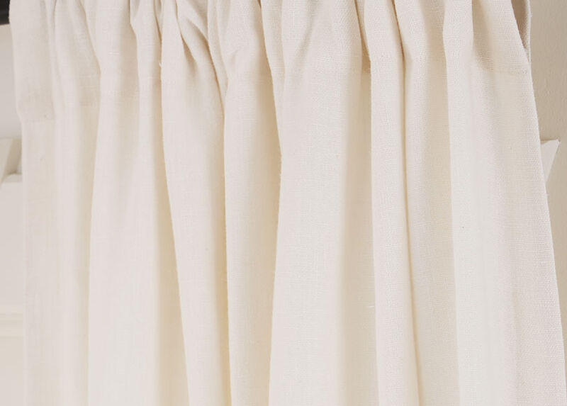 Ivory Sayre Washed Linen Fabric by the Yard