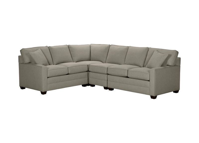 Bennett Track-Arm Four Piece Sectional, Quick Ship , Hailey Slate (Q1054), solid texture , large_gray