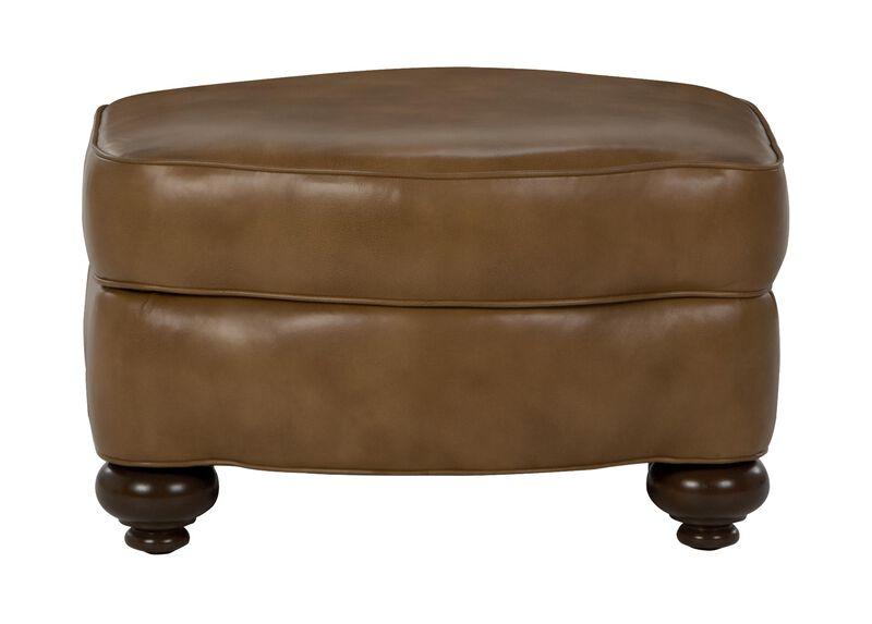 Whitney Leather Ottoman