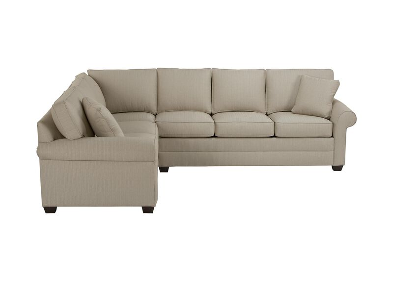 Images Bennett Roll Arm Sectional Large Gray
