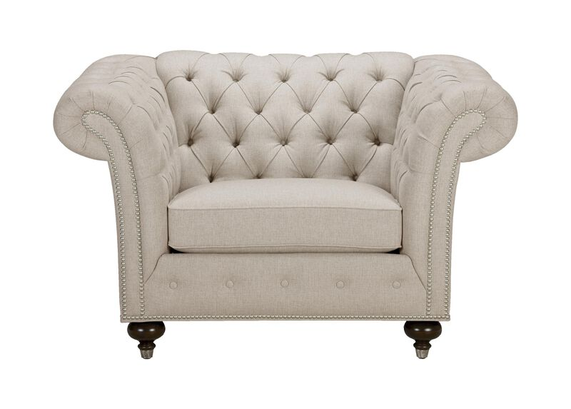 Mansfield Chair, Quick Ship , Hailey Oatmeal (Q1033), solid texture , large_gray