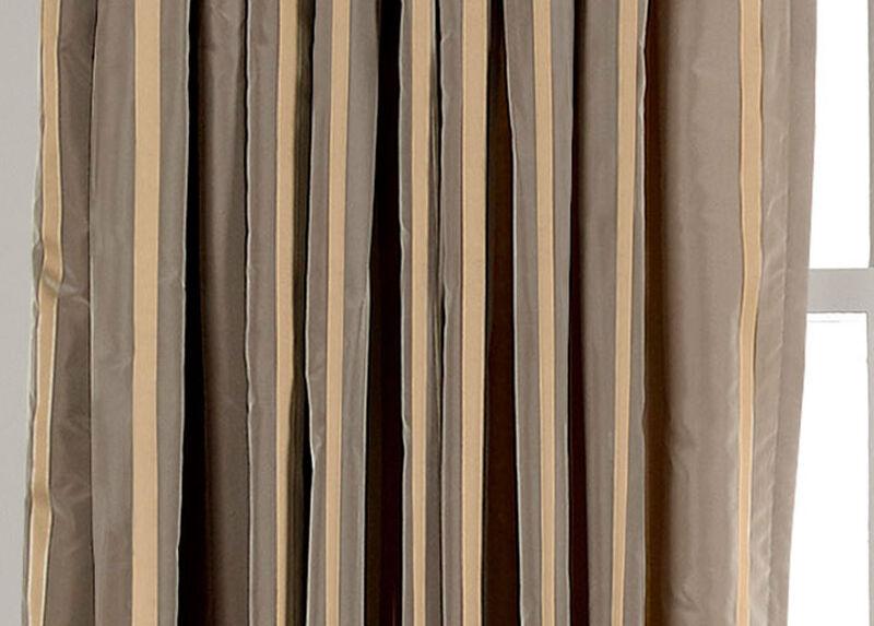 Titanium Taffeta Stripe Fabric by the Yard