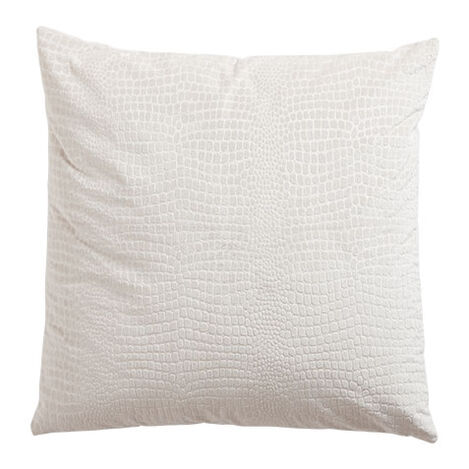 Embossed Velvet Pillow, Ivory ,  , large
