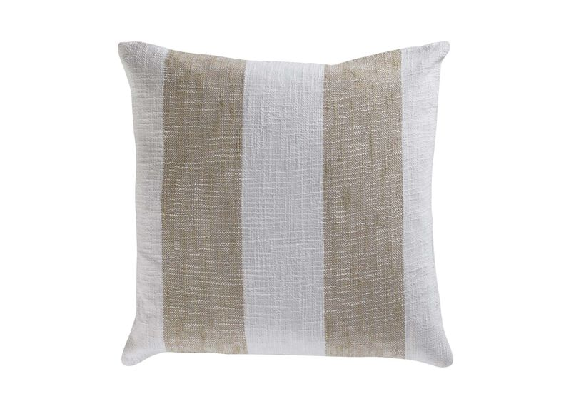 Taupe Striped Pillow
