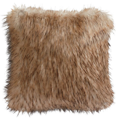 Taupe Fox Faux Fur Pillow Product Tile Image 065589