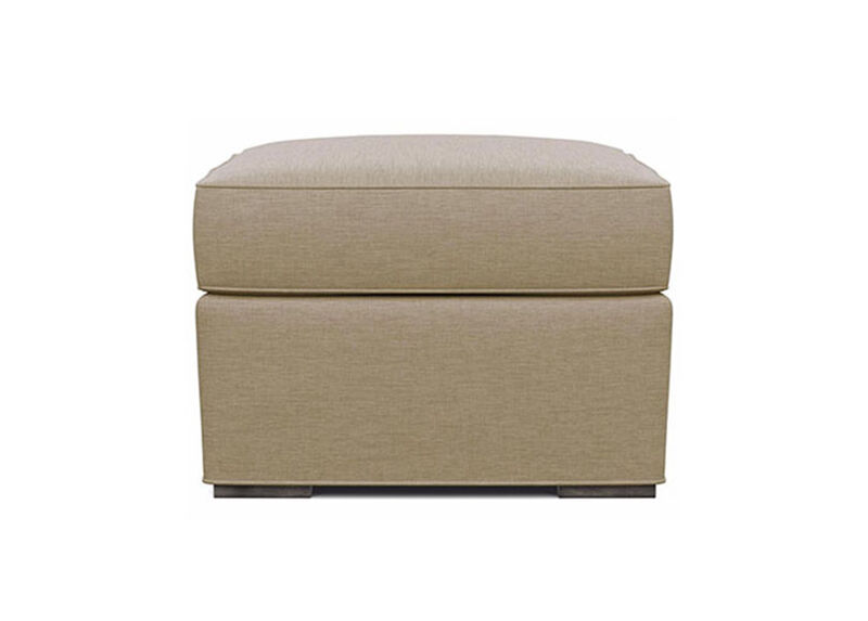 Meeting Place Ottoman , Zest Linen (D1031), strie texture , large_gray
